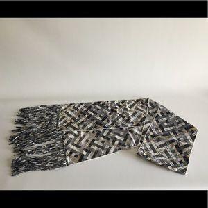 Hermes Bolduc Au Carrie Silk Fringe stole scarf